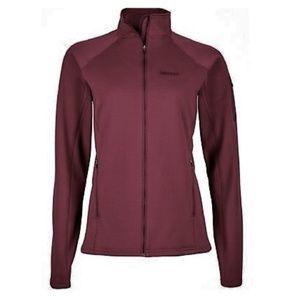 Marmot stretch fleece zip up jacket plum large